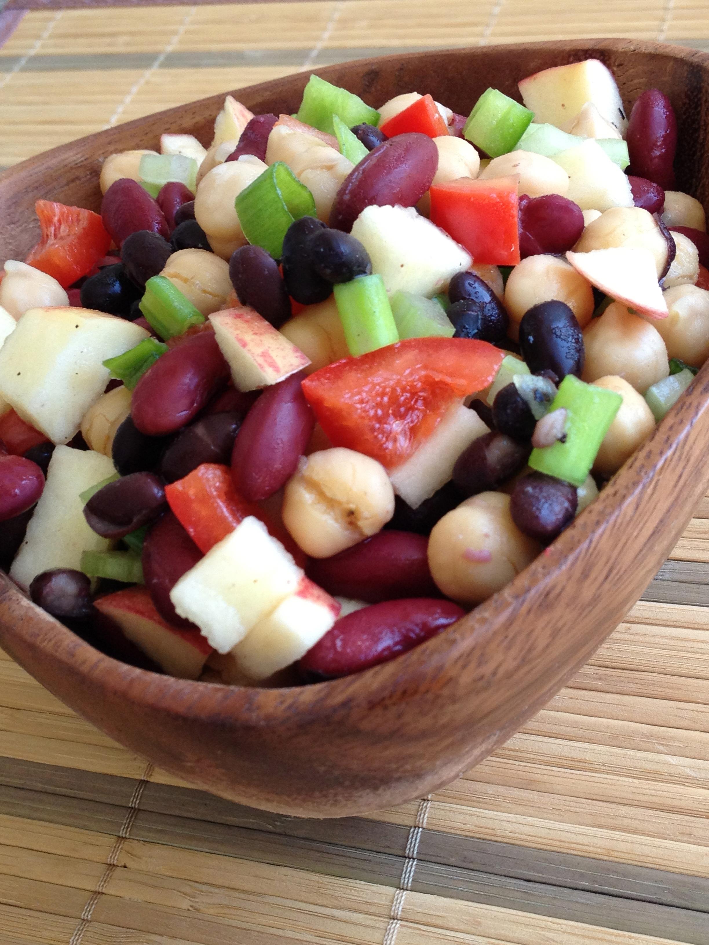Three-Bean Salad (vegan and gluten-free; oil-free option ...