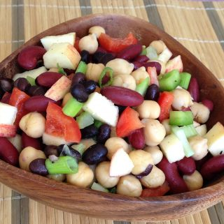EASY 3 Bean Salad (vegan, gluten-free, oil-free)
