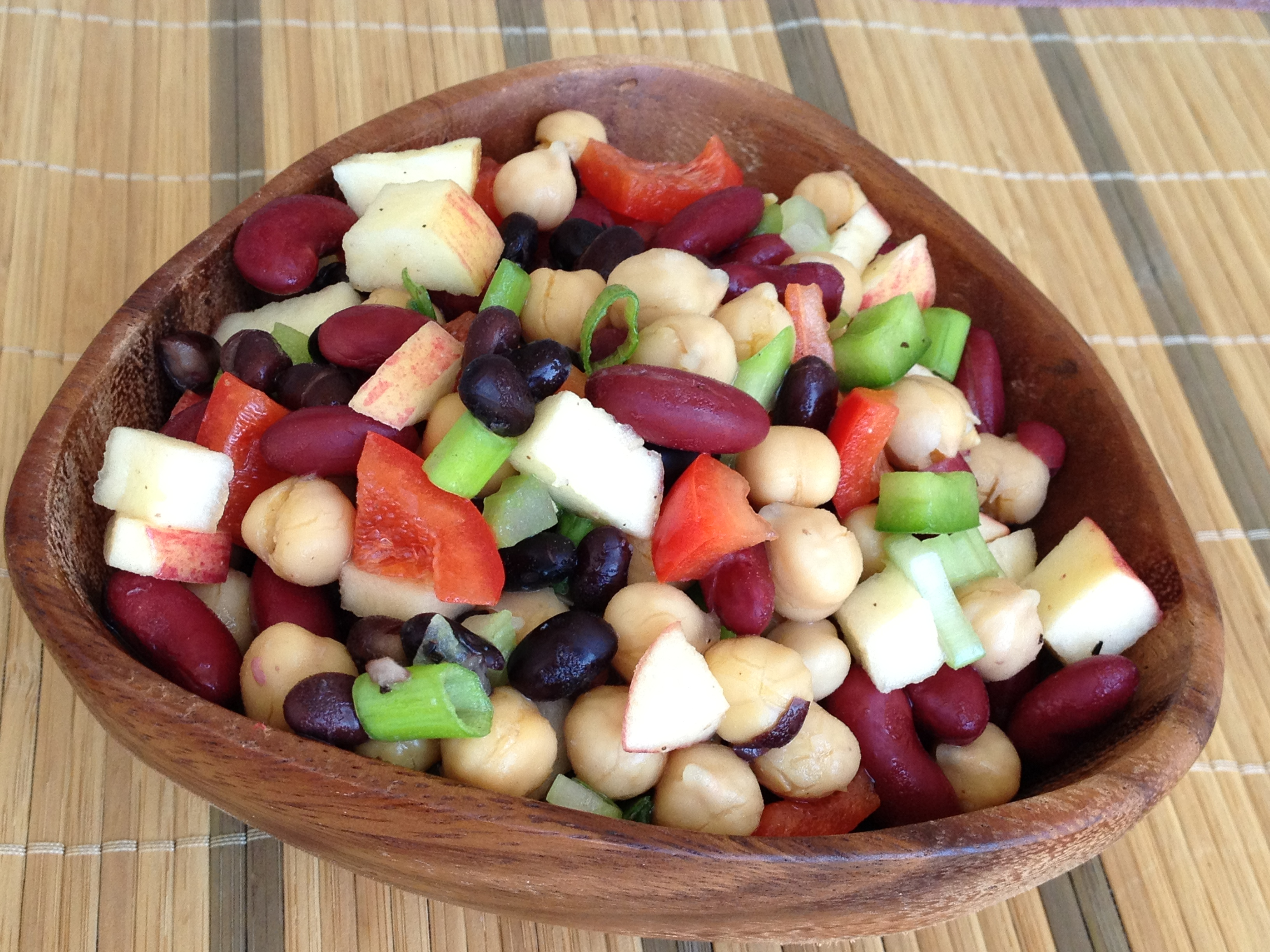 Three-Bean Salad (vegan and gluten-free; oil-free option) - Plant ...