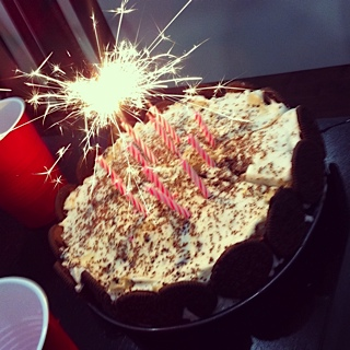 Cool How To Make A Vegan Ice Cream Cake With Sparklers And Fluffy Funny Birthday Cards Online Inifodamsfinfo