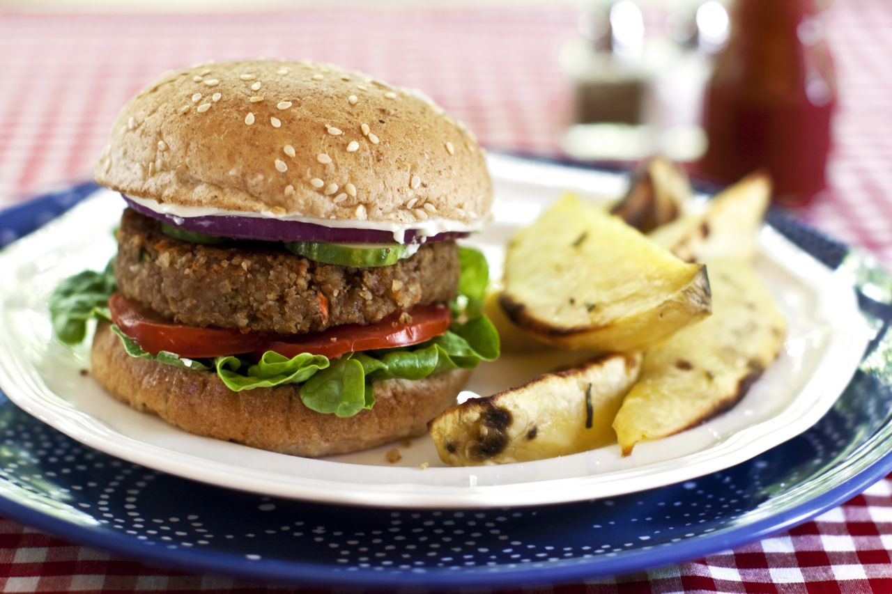 hearty vegan burgers