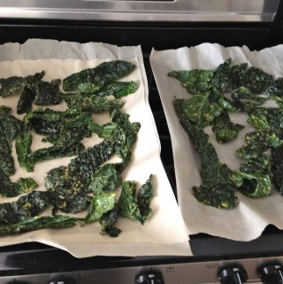 """Oven Dehydrated"" Kale Chips (no dehydrator needed!)"