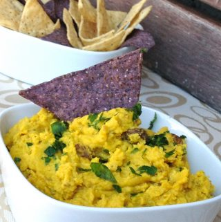 Curried Chickpea Hummus with Raisins