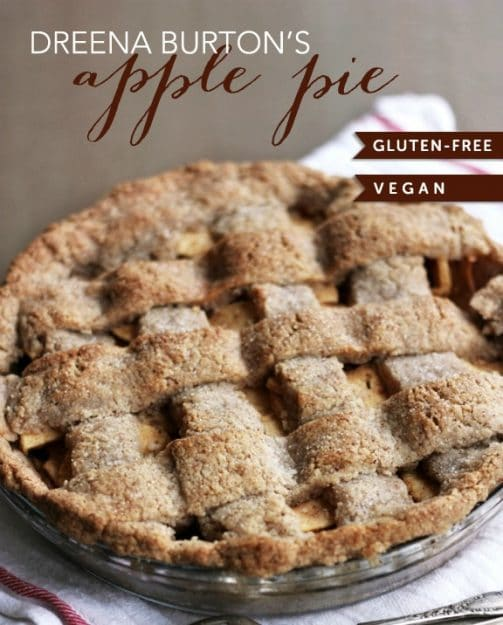 The BEST Gluten-Free pie crust! Will replace your traditional pastry crust, it's THAT good. Use with this scrumptious APPLE-PIE FILLING! Also dairy-free and vegan. | vegan pie recipes | vegan apple pie | vegan pie crust recipe | vegan dessert recipes | dairy free apple pie recipe | dairy free pie crust recipe | dairy free dessert recipes | gluten-free apple pie recipe | gluten-free dessert recipes || Plant Powered Kitchen