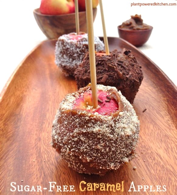 Sugar-free caramel apples by Dreena Burton, Plant-Powered Kitchen #vegan #glutenfree