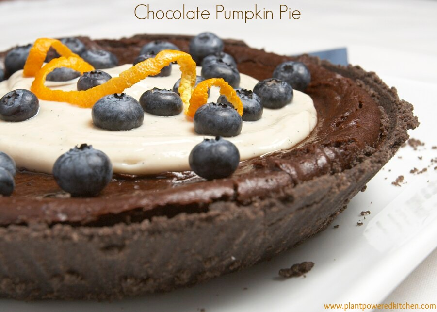 Chocolate Pumpkin Pie by Dreena Burton #vegan