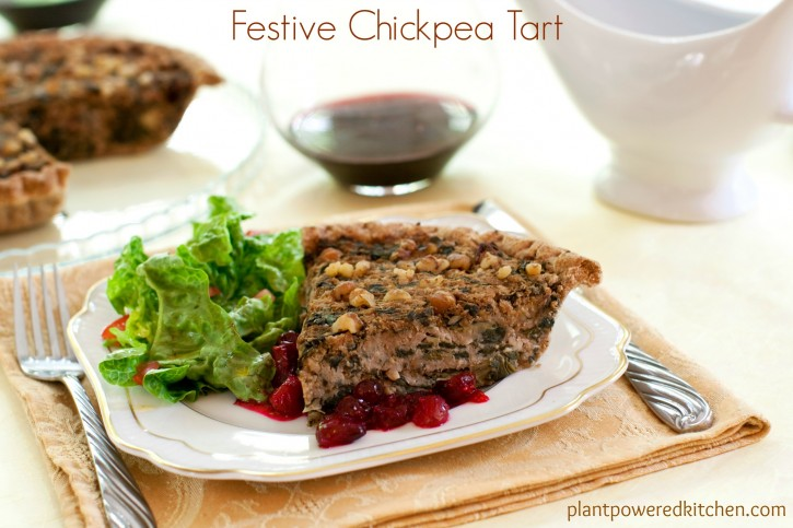 Festive Chickpea Tart by Dreena Burton #vegan