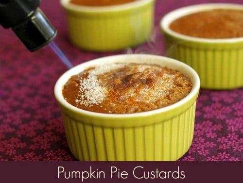 Pumpkin Pie Custards with Brulee Topping #vegan #glutenfree #wfpb #oilfree www.plantpoweredkitchen.com