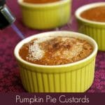 Pumpkin Pie Custards with Brulee Topping #vegan #glutenfree #wfpb #oilfree www.plantpoweredkitchen.com