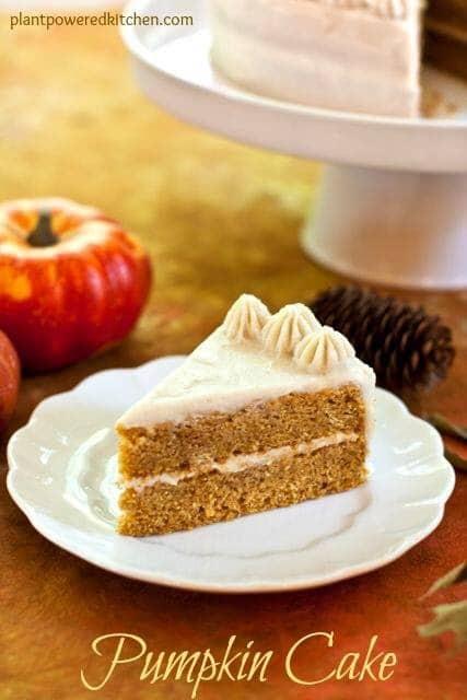 Pumpkin Cake by Dreena Burton #vegan