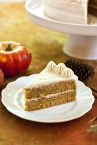 Pumpkin Cake with Cooked Vanilla Frosting