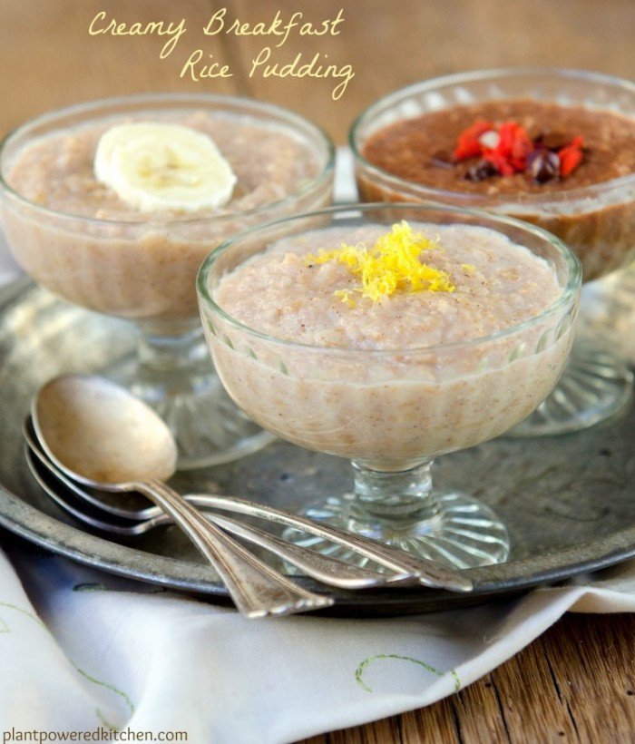 Creamy Breakfast Rice Pudding by Dreena Burton #vegan #glutenfree #oilfree