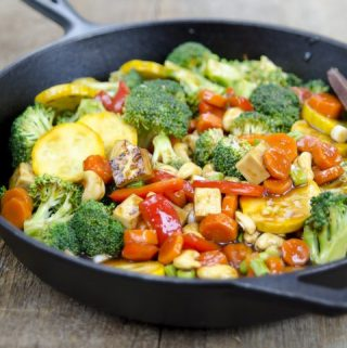 Vegetable Teriyaki Stir-Fry (vegan, oil-free, and gluten-free)