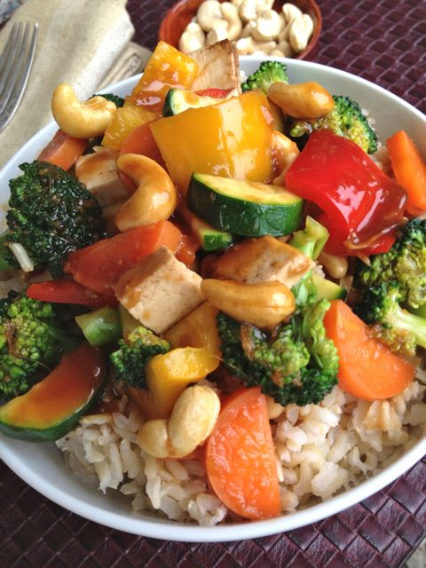 Vegetable Teriyaki Stir-Fry with Cashews (vegan and gluten-free ...