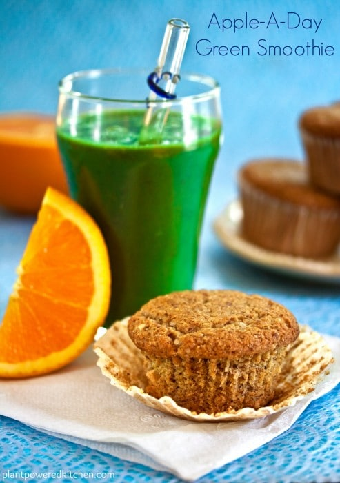 Apple-A-Day Green Smoothie from Dreena Burton