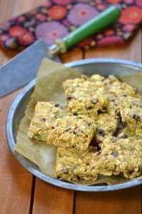 Pumpkin Seed Chocolate Chip Oat Bars from the Plant-Powered 15 ebook