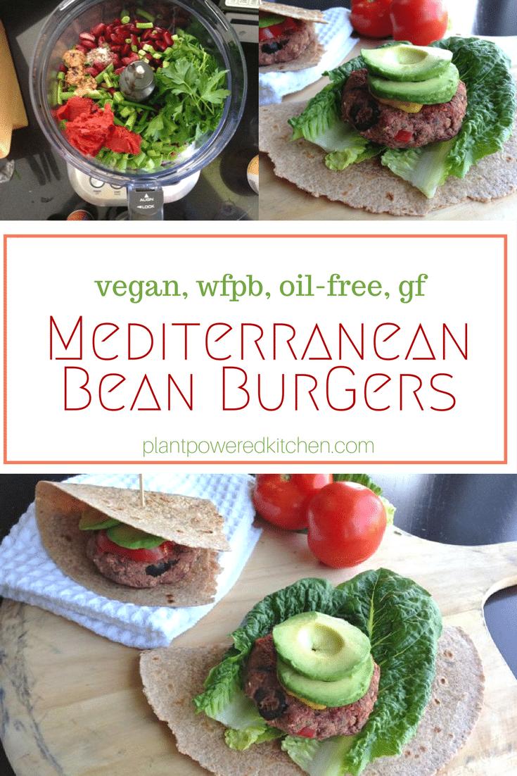 Mediterranean Bean Burgers
