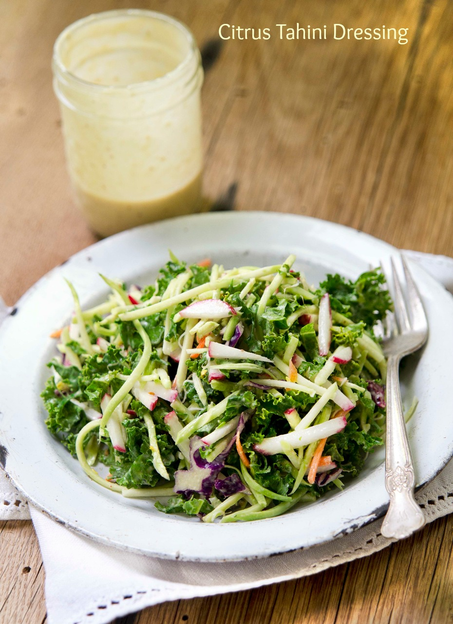 Citrus Tahini Dressing from Let Them Eat Vegan