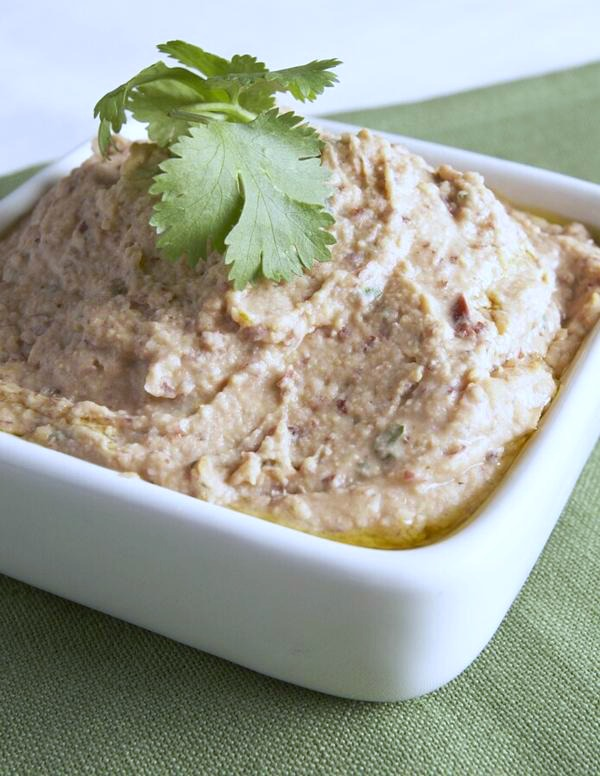 Chipotle Lime Two-Bean Hummus from eat, drink & be vegan