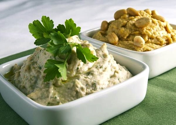 Peanut Sesame Hummus (background) from eat, drink & be vegan