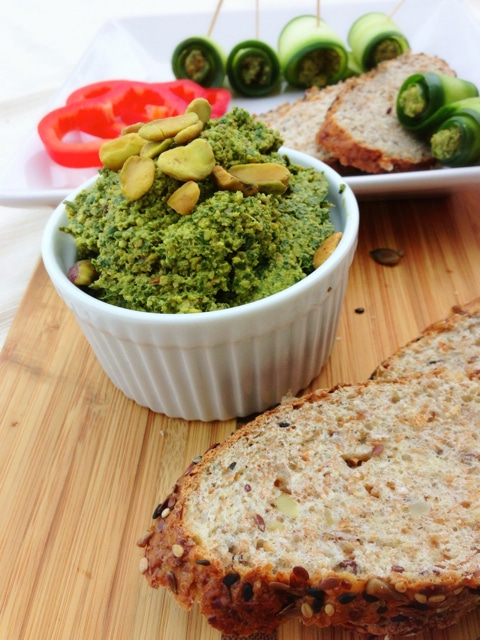 "Spinach Herb Pistachio Pesto from ""Let Them Eat Vegan"""