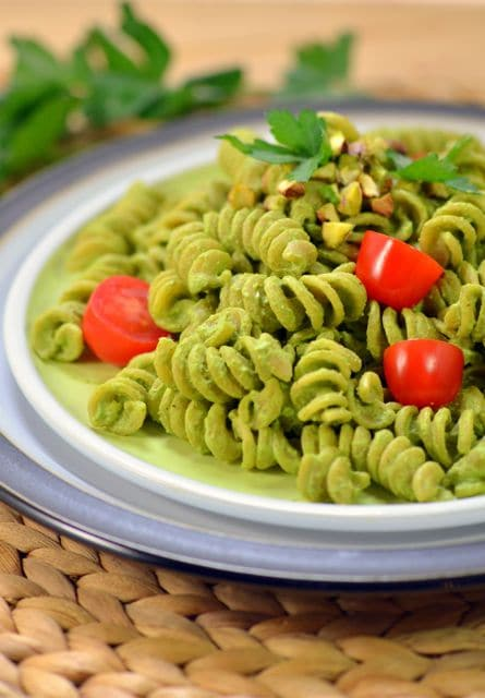 "Presto Pistachio Pasta from the ""Plant-Powered 15"""