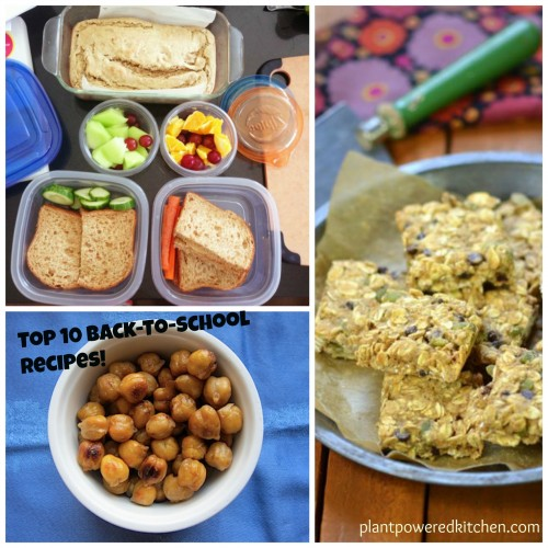 Top 10 recipes for back-to-school and tips for packing healthy lunches!