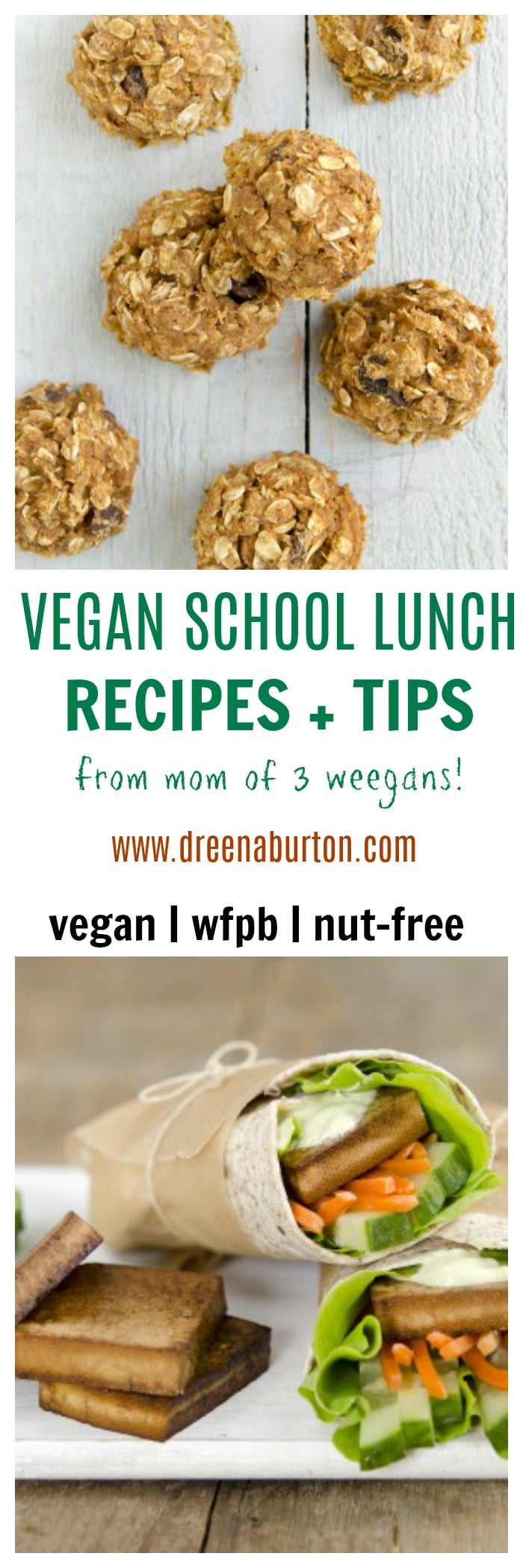 HEALTHY VEGAN School Lunches (Recipes + TIPS) for packing school lunches!