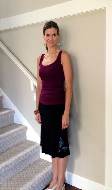 Wearing Squeezed Yoga bamboo skirt - LOVE this skirt!
