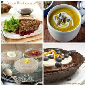 Vegan Thanksgiving Menu: from brunch to dinner to dessert!