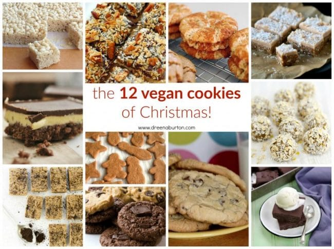 The 12 VEGAN COOKIES of CHRISTMAS! with gluten-free, oil-free, and nut-free options!