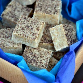 Vanilla Bean Almond Butter Vegan Fudge (dairy-free, gluten-free)