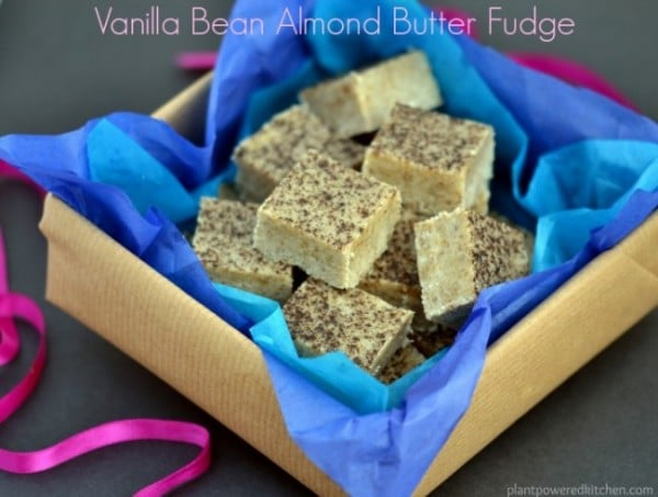 Vanilla Bean Almond Butter Fudge by Dreena Burton #vegan