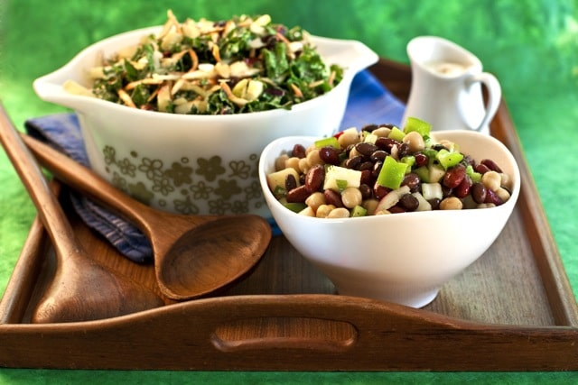 Kale-Slaw and 3-Bean Salad, Dreena Burton, Plant-Powered Kitchen