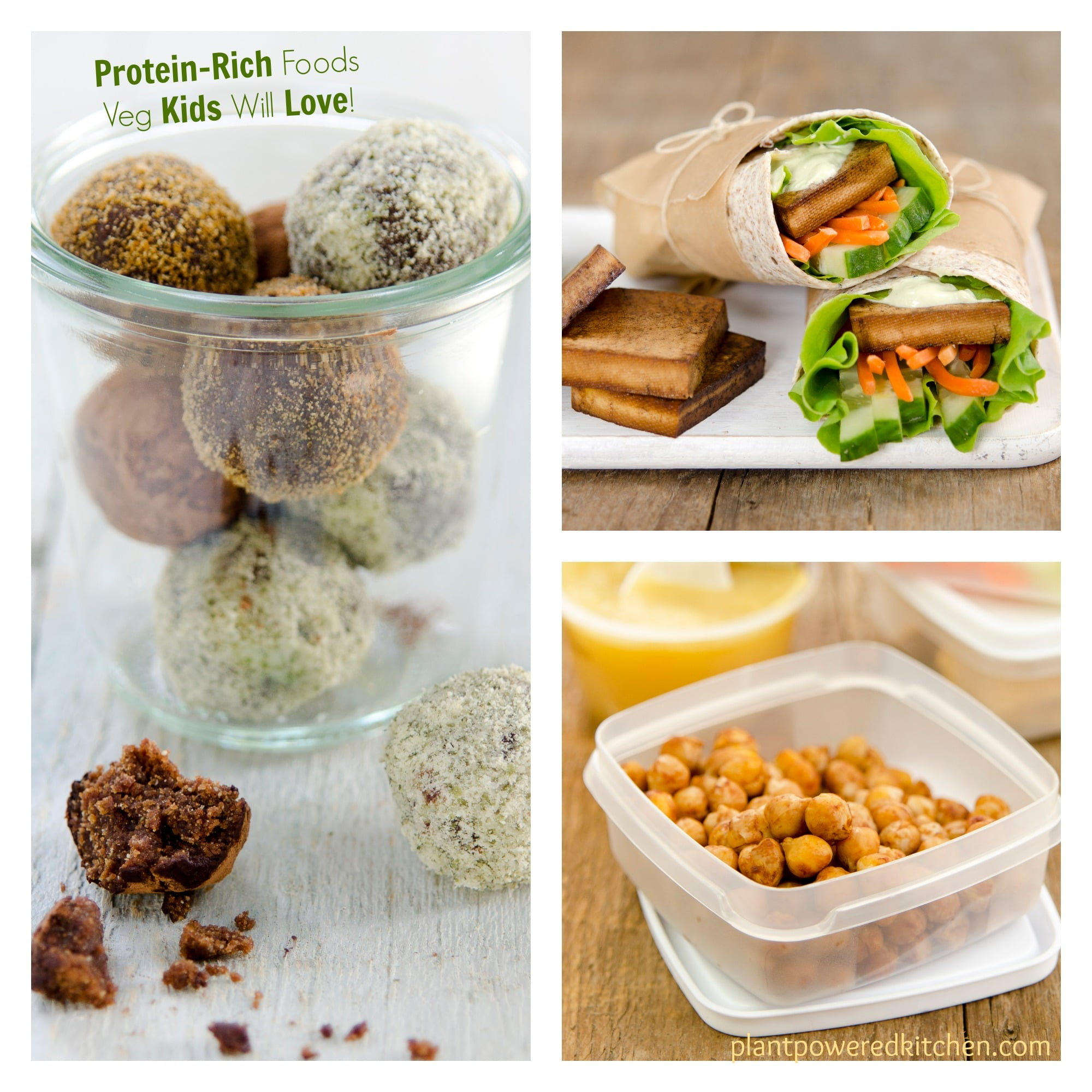 Protein Power Balls and other Protein-Rich Foods Veg Kids Will Love!