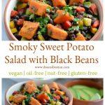 Smoky Sweet Potato Salad with Black Beans #vegan #glutenfree #nutfree #oilfree #plantbased #wfpb #soyfree #recipe #salad #cleaneating