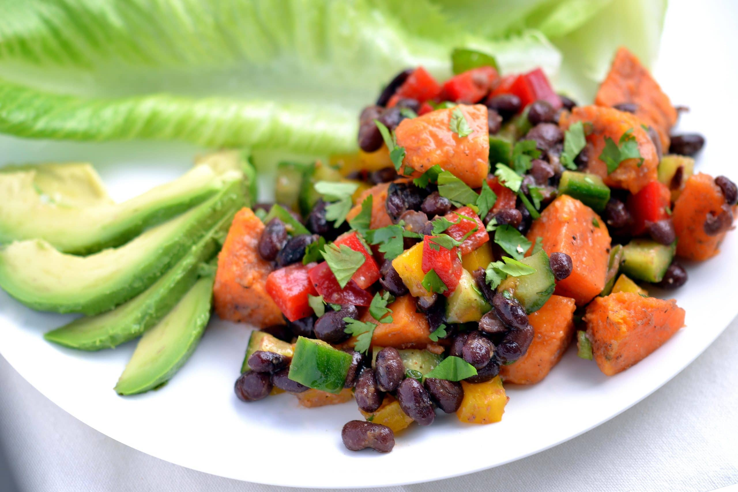 "Smoky Sweet Potato and Black Bean Salad from ""Let Them Eat Vegan"" by Dreena Burton"