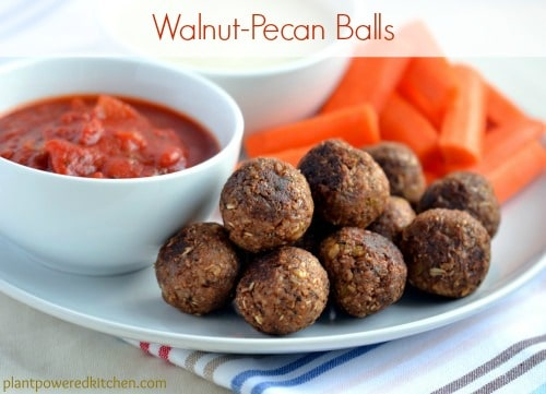 Walnut-Pecan Balls #vegan #meatlessmonday #plantbased www.plantpoweredkitchen.com