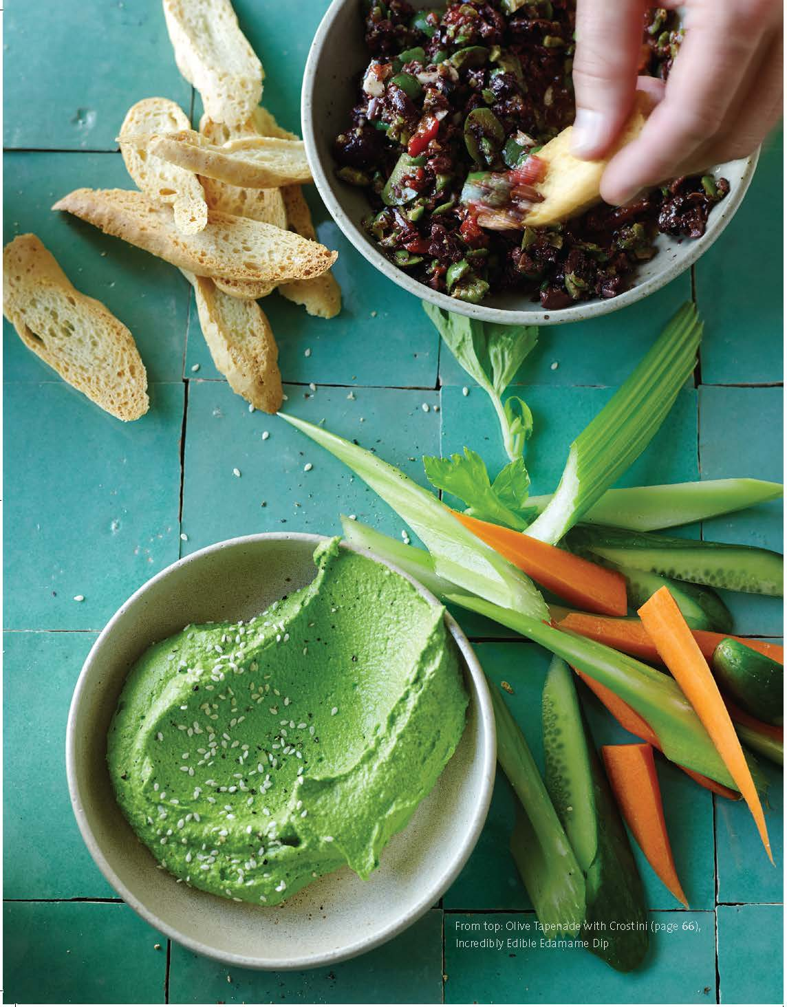 "Incredibly edible edamame dip from ""The Blender Girl  Cookbook"""