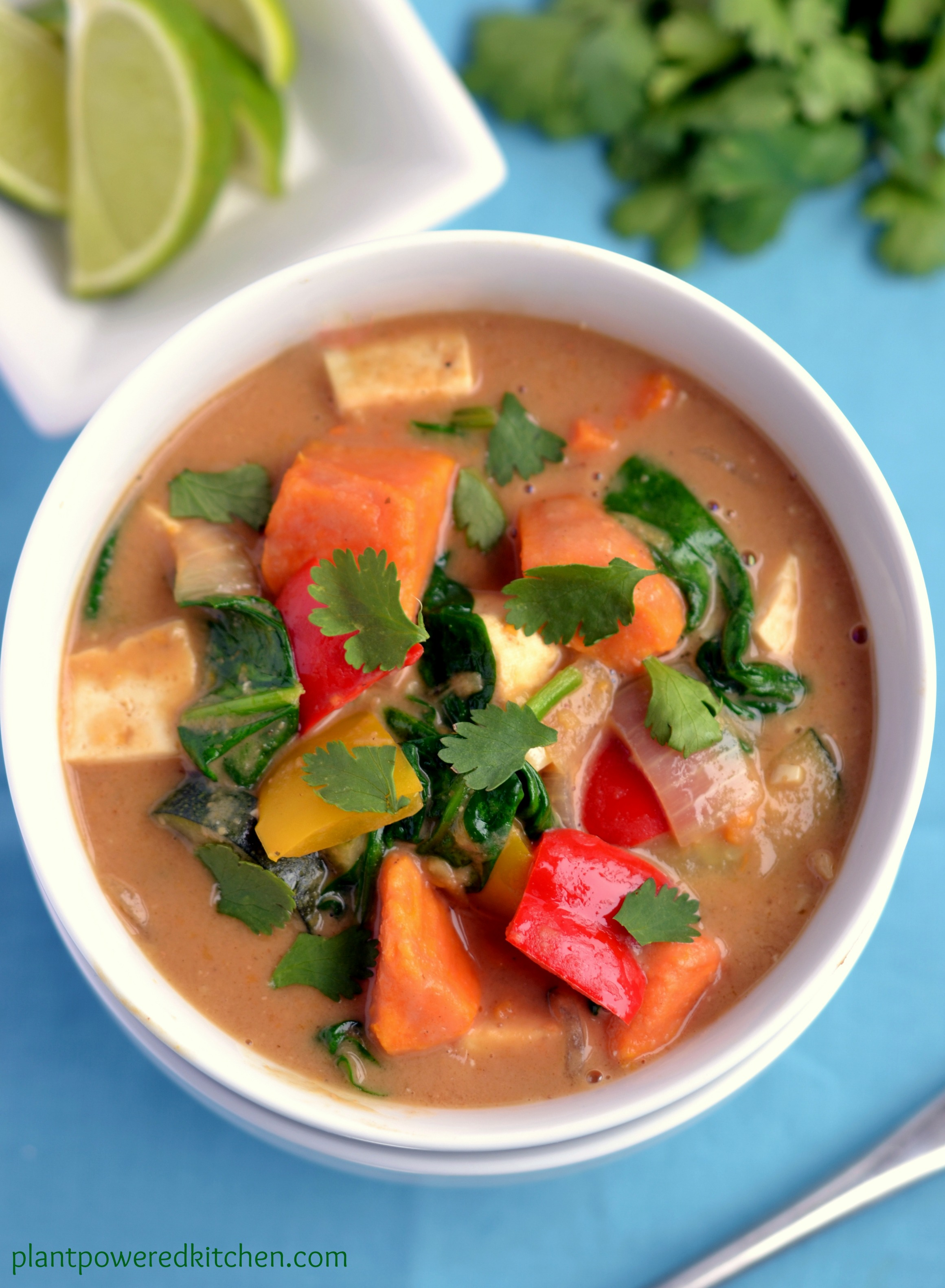Peanut Thai Vegetable Stew by Dreena Burton, plantpoweredkithcen.com