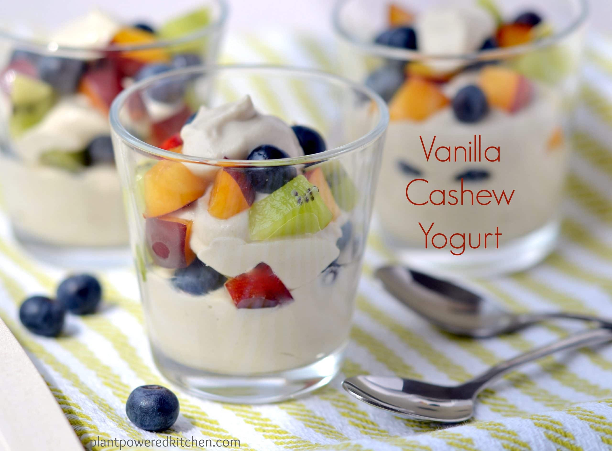Vanilla Cashew Yogurt - from Dreena Burton, plant-powered kitchen - #vegan #soyfree #glutenfree #dairyfree
