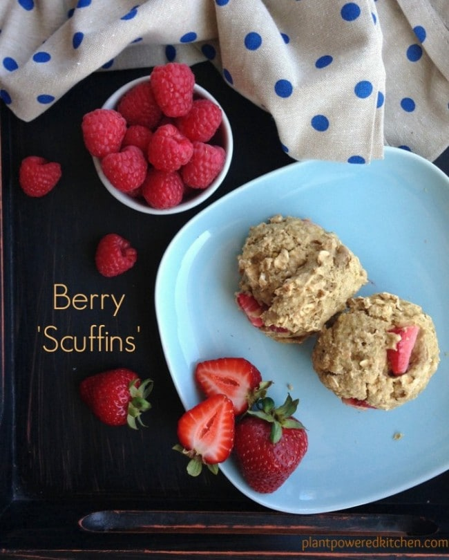 "Berry ""Scuffins"" by Dreena Burton, Plant-Powered Kitchen #vegan #oilfree"