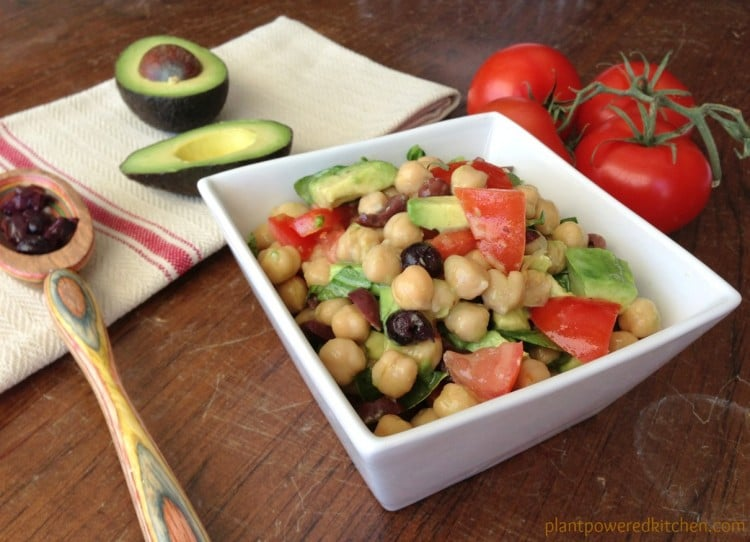 Summer Chickpea Salad (vegan, gluten-free, soy-free, oil-free) by Dreena Burton, Plant-Powered Kitchen