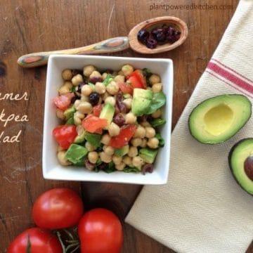Summer Chickpea Salad (vegan, gluten-free, nut-free, soy-free, oil-free) by Dreena Burton, Plant-Powered Kitchen