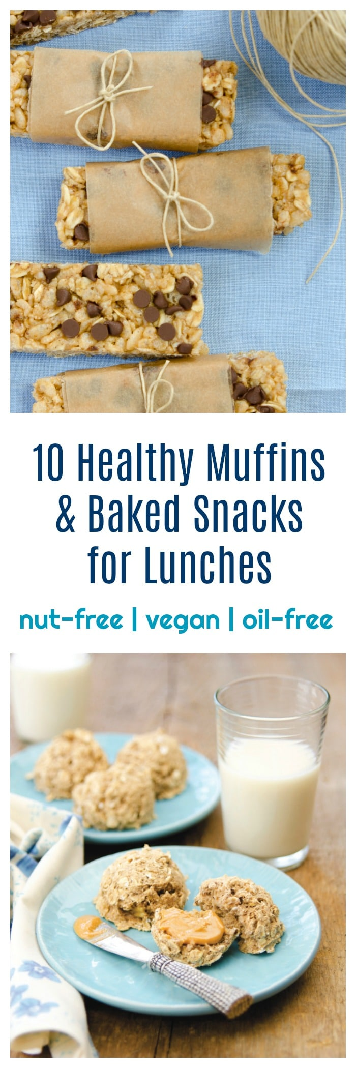 10 Healthy Oil-free Muffins & Baked Snacks for Lunches! www.dreenaburton.com