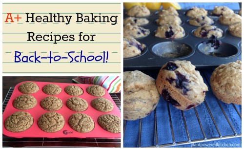 Top Healthy Baking Recipes for Back-To-School! #nutfree #vegan