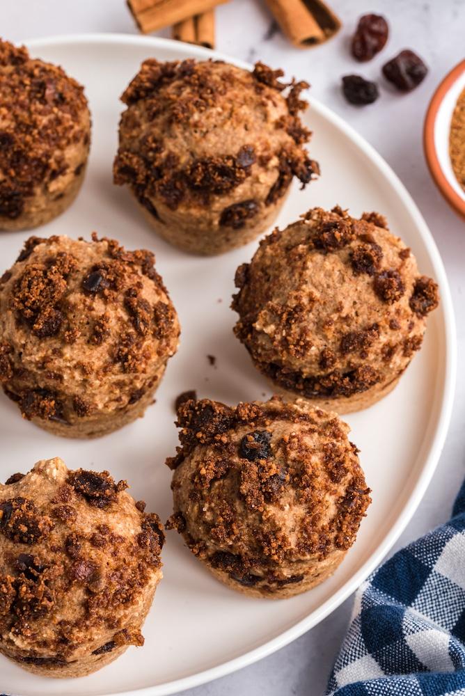 cinnabon muffins on plate