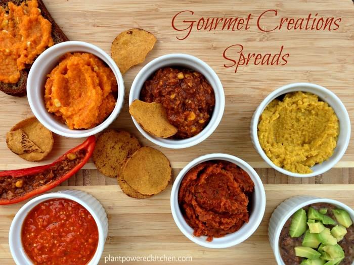 Gourmet Creations Spreads and Dips #vegan #glutenfree #nutfree