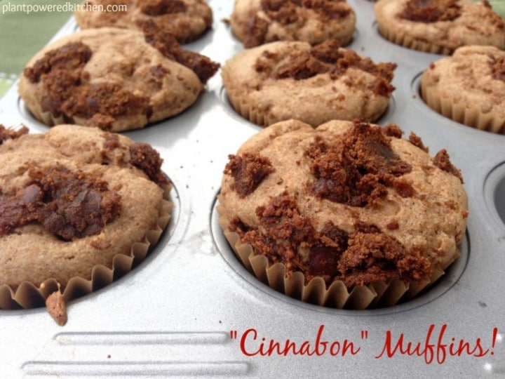 """Cinnabon Muffins"" by Dreena Burton, Plant-Powered Kitchen #vegan #wholefoods"