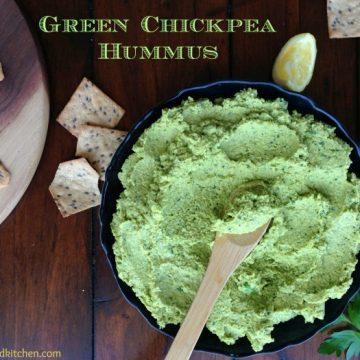 Green Chickpea Hummus by Dreena Burton #vegan #glutenfree #nutfree #oilfree